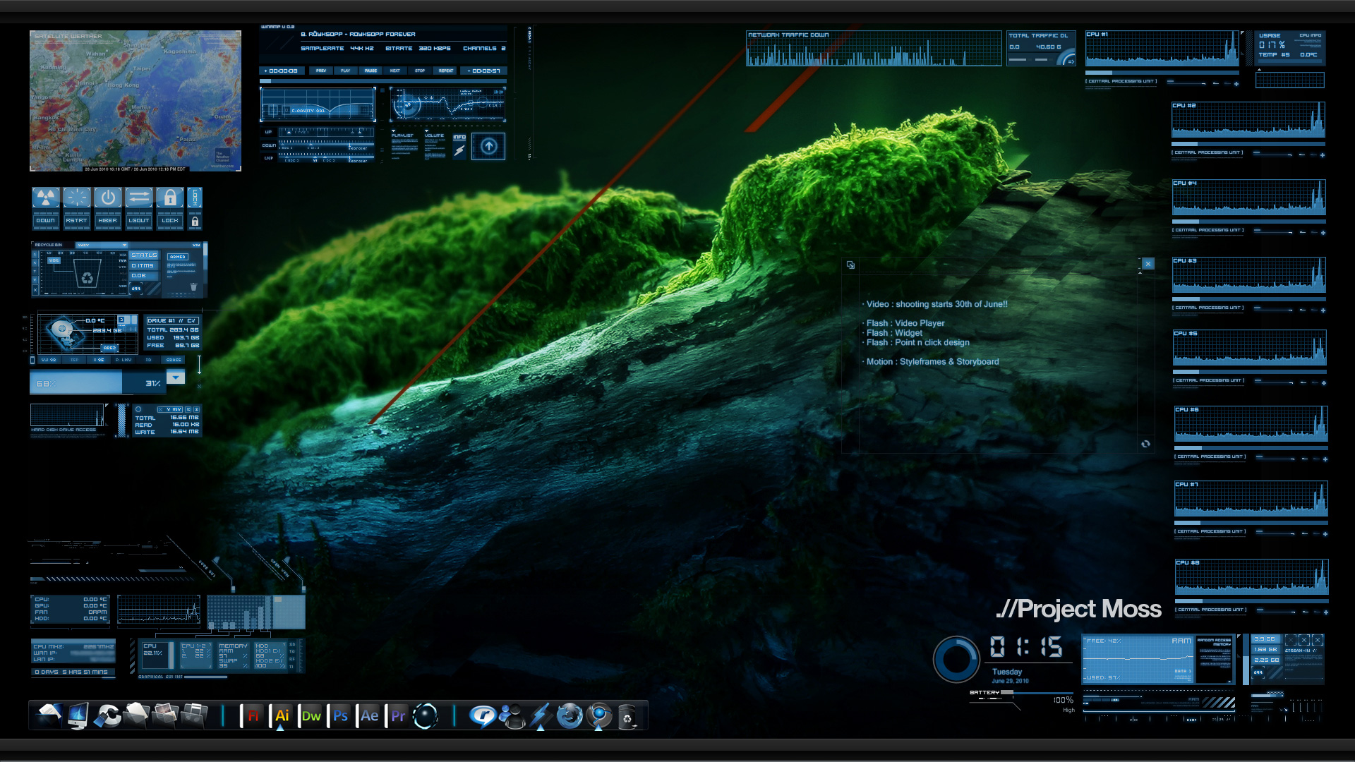 Cool stuff rainmeter exo verge for Deviantart rainmeter